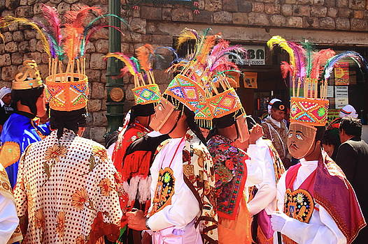 Parade Costumes, Cusco Peru  by Roupen  Baker