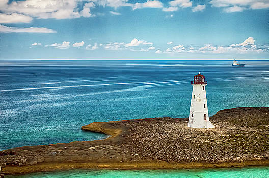 Paradise Island Lighthouse by Mick Burkey