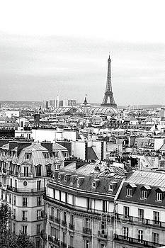 Paris and the Eiffel Tower from Printemps Rooftop  by D Renee Wilson