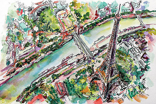 Ginette Callaway - Paris Eiffel Tower Aerial View