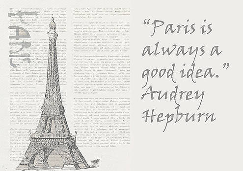 Paris is always a good idea, Audrey Hepburn by Vel Verrept