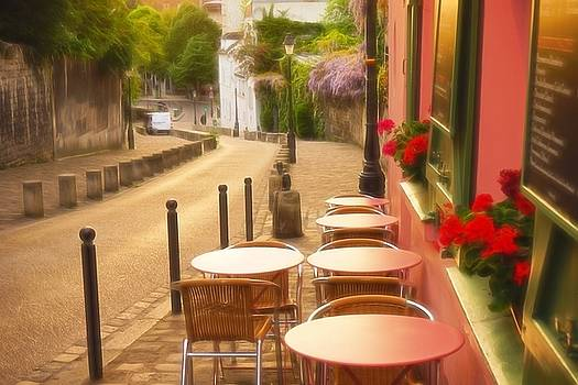 Parisian Cafe' Sunset by Denise Darby