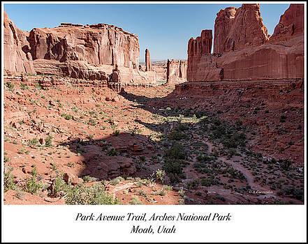 Park Avenue Trail, Arches National Park, Moab, Utah by A Gurmankin