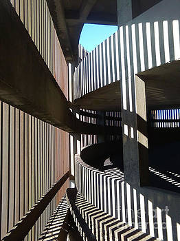Parked Shadows Abstract Architecture In New Orleans Louisiana by Michael Hoard
