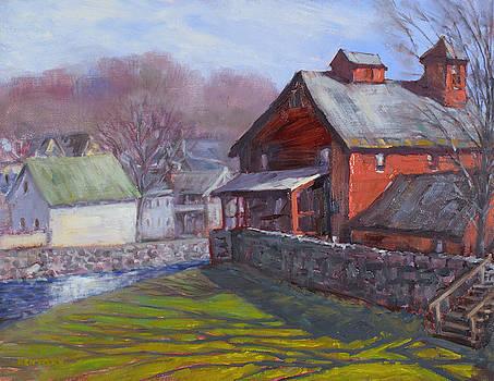 Parker Mill in April by Ken Fiery