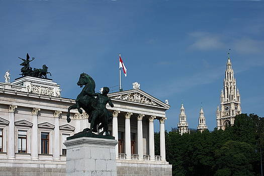 Parliament and City Hall Vienna by Sally Weigand