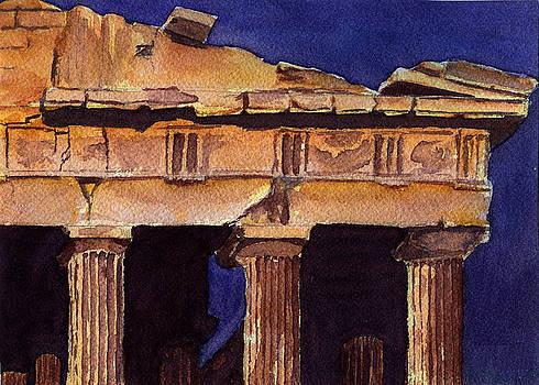 Parthenon view I by Georgia Pistolis