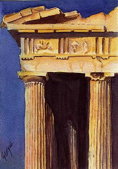 Parthenon view II by Georgia Pistolis
