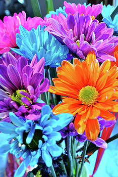 Party flowers by Daphne Duddleston