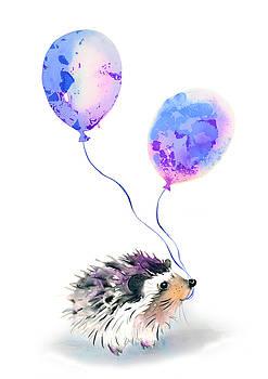 Party hedgehog by Kristina Bros