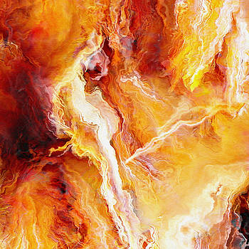 Passion - Abstract Art - Triptych 2 of 3 by Jaison Cianelli