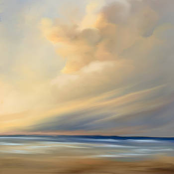 Pastel beach cloud by Anthony Fishburne