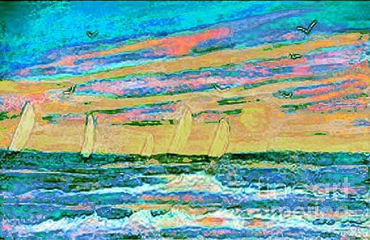 Pastel Sails by Holly Martinson