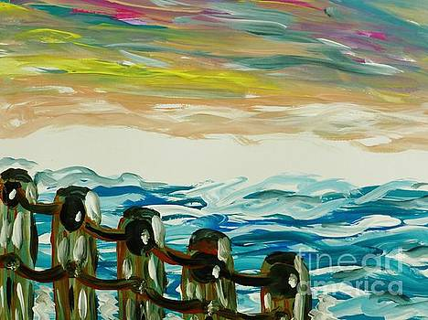 Pastel Sky and Sea by Marie Bulger