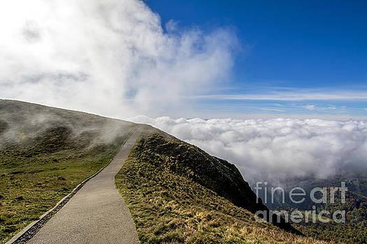 BERNARD JAUBERT - Path in the chain of volcanoes. France. Auvergne. Puy de Dome.