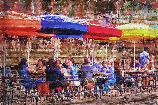 Patio At The Riverwalk by Eduardo Tavares