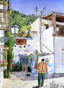 Patio in Sacromonte Granada by Margaret Merry