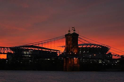 Paul Brown Stadium Sunset by Anthony Wilder