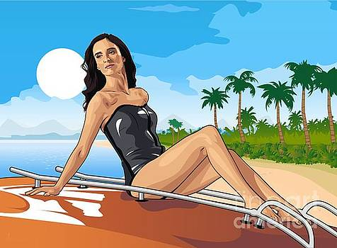 Paz Vega on the Beach by PDwain Morris