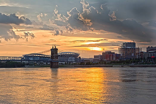 PB Stadium Sunset by Randall Branham