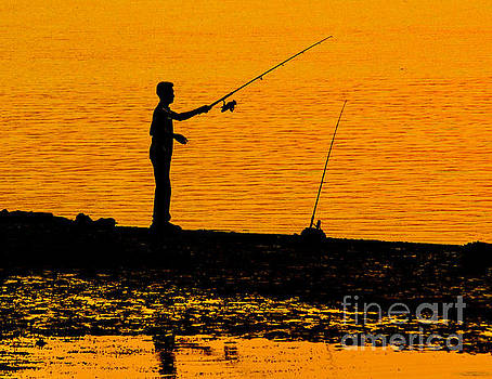Peaceful Fishing by Nick Zelinsky