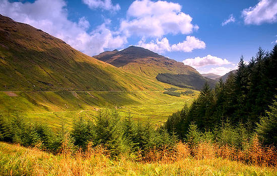 Jenny Rainbow - Peaceful Sunny Day in Mountains. Rest and Be Thankful. Scotland