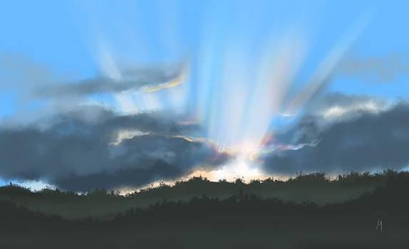 Peaceful sunset  by Veronica Minozzi