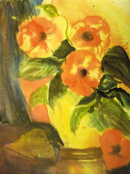 Peach Poppies by Aldonia Bailey