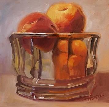 Peaches Print Wall Art Room Decor by Patti Trostle