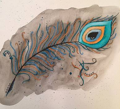Peacock Feather by Annette Bingham