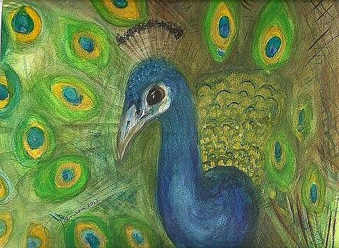 Peacock for my Sister by Denise Marie Johnson