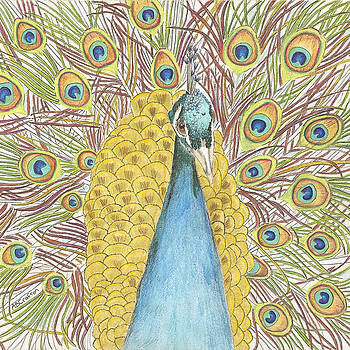 Peacock Two by Arlene Crafton