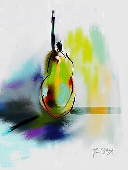 Pear Digital Abstract by Frank Bright