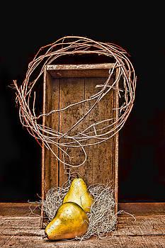 Pears in Crate 3 by Vicki McLead