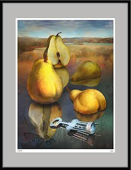 Pears in mirror by Zia Art