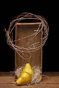 Pears in Wood Crate 1 by Vicki McLead