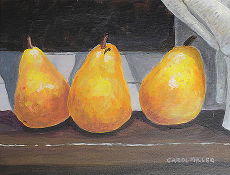 Pears On My Windowsilll by Carol L Miller