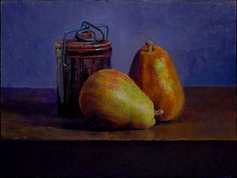 Pears with a Canister by Alan Cayton