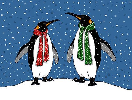Joyce Geleynse - Penguin Couple in Snowy Landscape