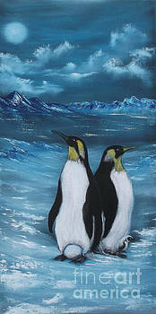 Penguin Family Expectant again by Cynthia Adams