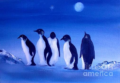 Penguins on a Night Out.Sold by Cynthia Adams