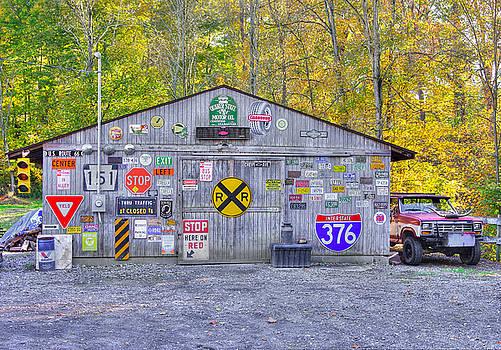 Pennsylvania Country Roads - The Garage - Washington County by Michael Mazaika