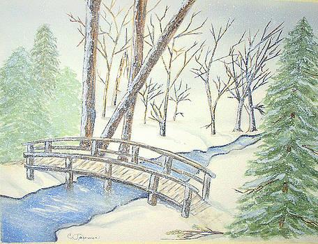 Pennsylvania Winter with Bridge by Constance Larimer