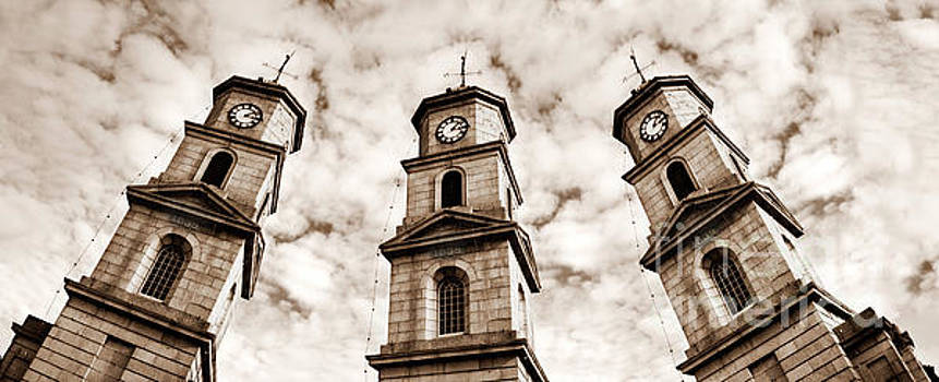 Penryn Clock Tower in sepia by Terri Waters