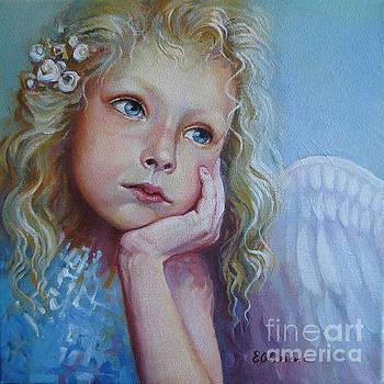 Pensive angel by Elena Oleniuc