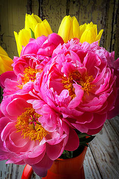 Peony And Tulips by Garry Gay