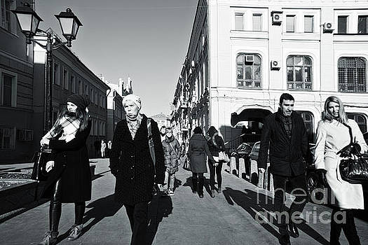 People on the march by Magomed Magomedagaev