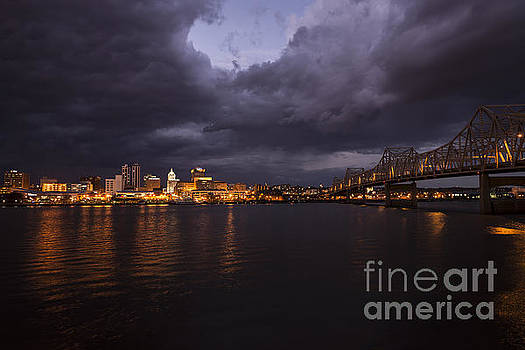 Peoria Stormy Cityscape by Andrea Silies