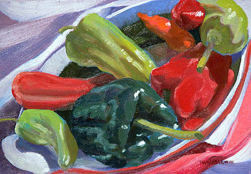 Peppers and Eggplant by Thaw Malin III