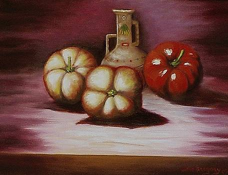 Peppers and pot by Gene Gregory